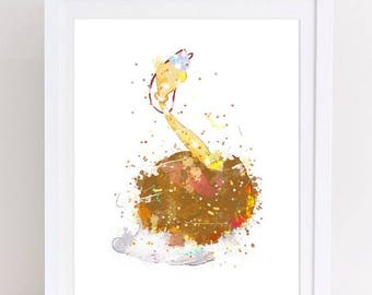 70%OFF Babette Beauty and the Beast Poster Watercolor Featherduster Fifi Watercolor Disney print wall decor baby shower nursery disney print
