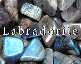 Labradorite 3 Pack | Tumbled Labradorite | Tumbled Stones | Tumbled Crystals | Crystal Collection | Energy Healing | Wicca Stones