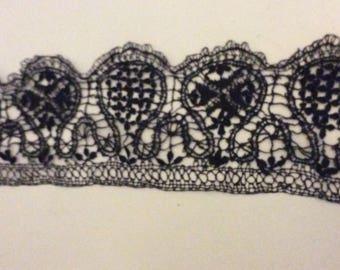 Cotton lace tatting black lovely boho pattern