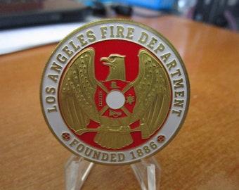 Los Angeles Fire Department Patron Saint Saint Florian Challenge Coin #4213