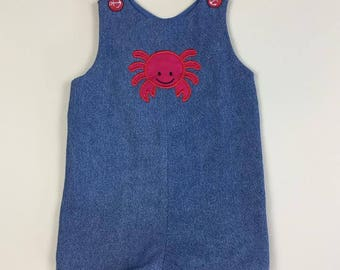 Crab Romper - Denim