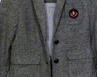 Abercrombie & Fitch youth girls jacket blazer school crest formal size medium