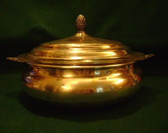 Sheffield Silver Co. Chafing/Casserole Dish with Pineapple Finial