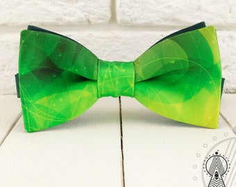 Green Bow Tie, Natural bowtie, Bow ties for adults and children, Green wedding