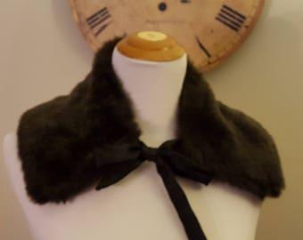 Faux Fur Collar/Brown Faux Fur Collar