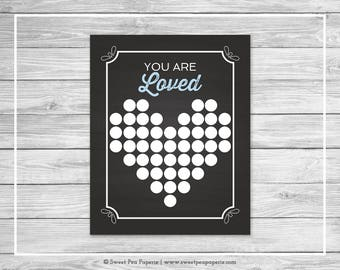 Chalkboard Baby Shower Guest Book - Printable Baby Shower Guest Book - Blue Chalkboard Baby Shower - Baby Shower Guest Book - SP156