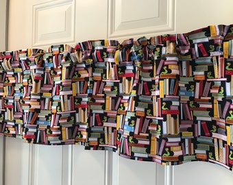 Librarian Book Worm Back to School classroom curtain Valance