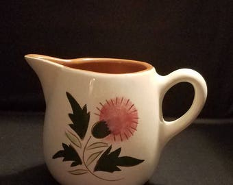Vintage Stangl Pottery Thistle Creamer Art Pottery Pitcher