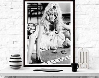 Brigitte Barot Playing Cards, Home Decor, Print, Fashion Art, Print, Model , Vintage Photography