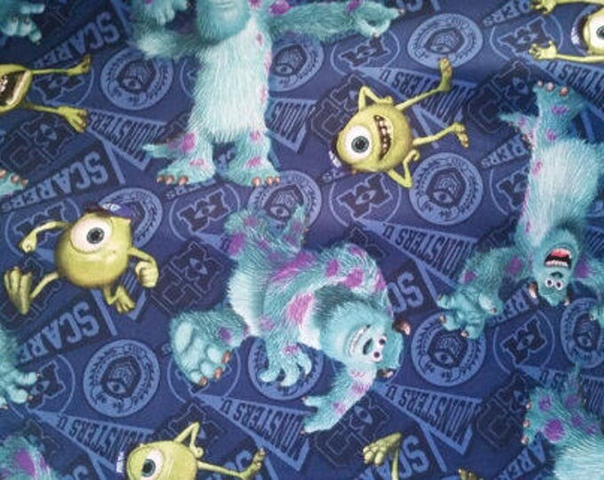 Monsters Inc Cotton Fabric by the Yard