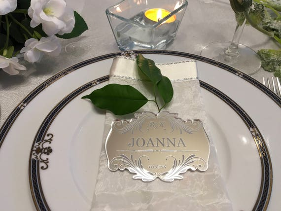Personalized Wedding Place Cards Save the Date Engraved Guest Names Escort Cards Custom Laser Engraved Names Place Settings Etched Initials