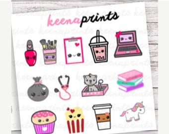 15% OFF S002 | PINKS Sampler Stickers Perfect for Erin Condren Life Planner, Filofax, Plum Paper & other planner or scrapbooking