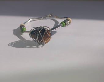 Tigers eye crystal bracelet with beading