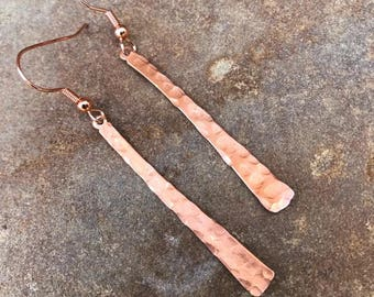 Hand Made Hammered Copper Earrings