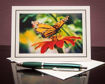 Butterfly No.2-Greeting cards-Note Cards-Flower-Nature-Happy Birthday-Family-Love-Photo Card-Floral-Wedding-Celebration-Congratulation-Gift
