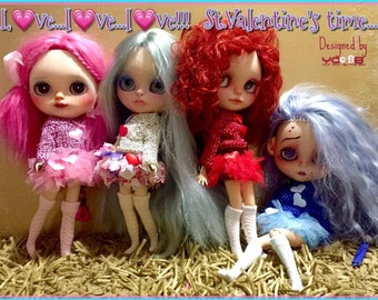 Valentine's Day, Romantic Outfits for your Blythes...
