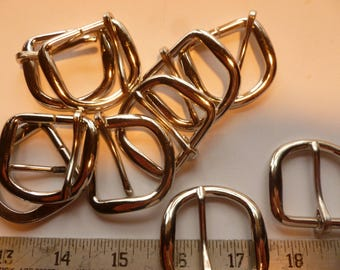 1 inch Nickle Plated Heel & Bar Buckles Lots 25-50