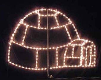 North Pole Christmas Igloo Wireframe Outdoor Holiday Yard Decoration Commercial Quality