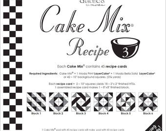 Cake Mix Recipe Pack #3 from Miss Rosie's Quilt Company