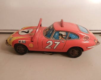 vintage modern toys metal batery operated no 27 metal race car