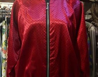 1990' needle polka dots dropped shoulder bomber jacket. Size XS.