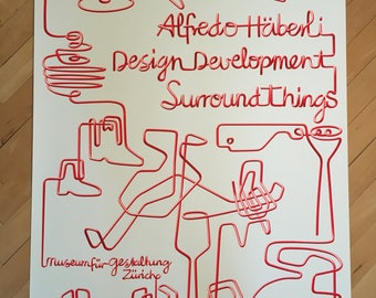 Alfredo Häberli Poster - SurroundThings Exhibition, Museum für Gestaltung Zurich - Out of Production