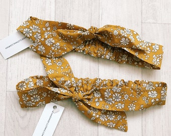 Handmade Liberty of London Print Girls Knot Bow Hairband Baby Hair Accessories Tana Lawn