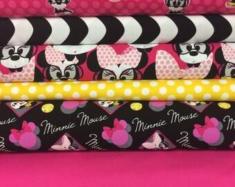 Minnie Mouse Fat Quarter Bundle - 6 prints
