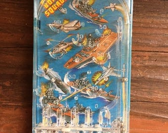 Bomber Squadron Pinball Game / Vintage Handheld Game / Imperial 1988