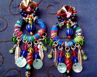 Boho tribal chic earrings