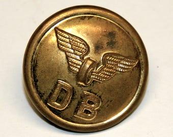 Deutsche Reichsbahn uniform knobs made of metal 1930/Vintage German railway buttons 30th