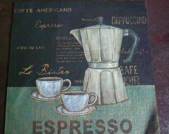 Towel 1 coffee paper, espresso, coffee paper napkin paper napkin