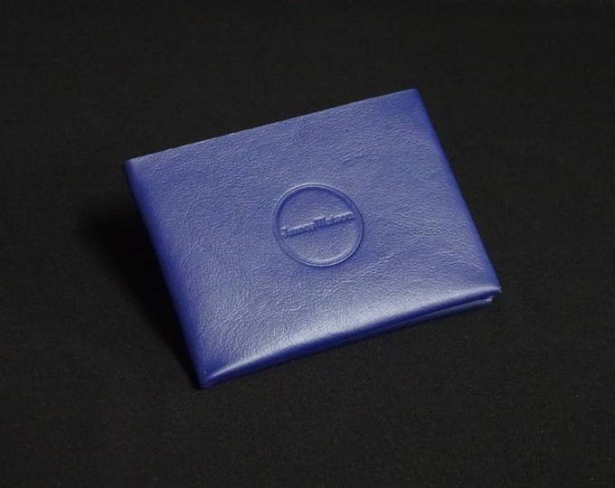 6-Pocket Wallet - Purple Blue - Kangaroo leather with RFID credit card blocking - Handmade - Mens/Womens - James Watson