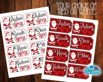 From Santa Printable Gift Tags - Christmas Gift Tags - Santa Gift Tags - Printable Gift Tags - Gifts for Kids - Santa Tags - Santa Stickers