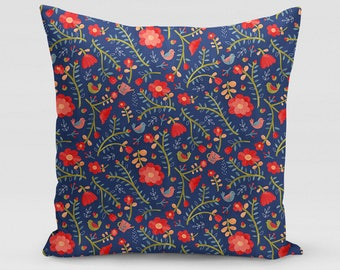 Rose Tree Flower Square Pillow   Home Decor   Studio Carrie   Gift