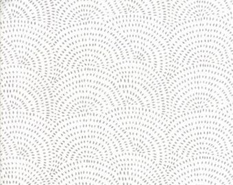 Catnip- Spinning Wheel- White/Grey- Gingiber- Moda Fabrics