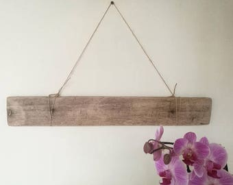 """Beige Flat Driftwood Piece Old & Weathered Reclaimed Wood Plank Crafting Driftwood Supplies Blank Sign 23.5"""""""