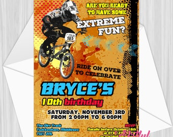 Printable Dirt Biking Party Invitation | Personalized