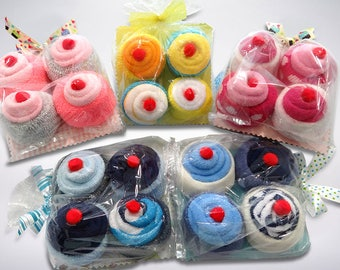 Baby Gift, Unique Baby Gift, Washcloth Cupcakes, Newborn Gift, Baby Washcloth Cupcakes