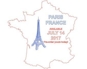 PARIS FRANCE Landmarks Art Map