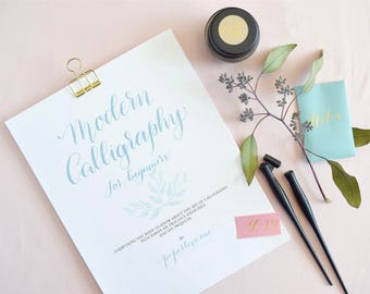 Modern Calligraphy Kit for Beginners Workbook | How to Calligraphy workbook & Kit | Calligraphy Kit Included | Modern Calligraphy How To Kit