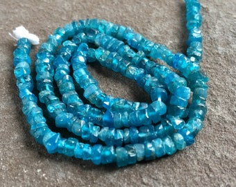 Tiny apatite rondelles, rustic apatite, bead strands, jewelry supply, beads, tiny apatite