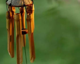 Bamboo Large Plain Antique Wind Chime