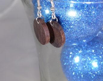 African hardwood Chocolate Brown Earrings