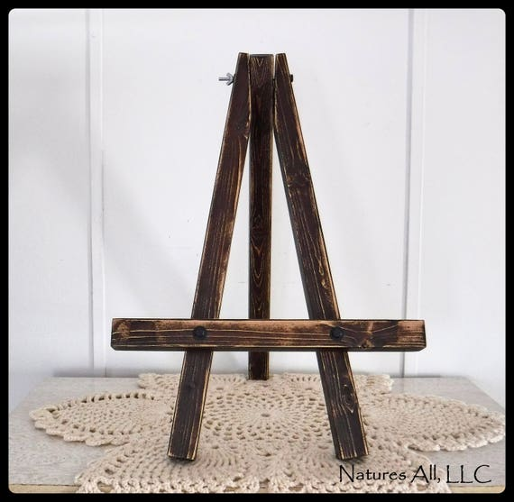 Rustic Table Top Easel/Small Easel/Distressed Wood/Farmhouse Decor/Wedding Sign Easel/