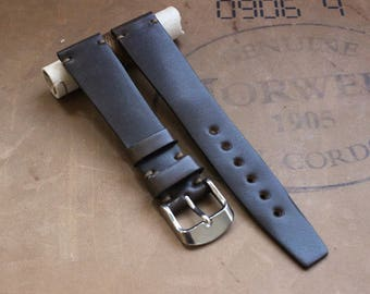 18/16mm Dark Cognac Horween Shell Cordovan watch band