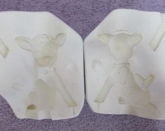 1986 Amaco Rewards 614 Sitting Deer Ceramic Mold S14