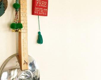 Free Spirit Mini Wooden Sign with Tassel