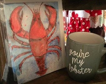 You're My Lobster Note Cards, You're My Lobster Greeting Cards