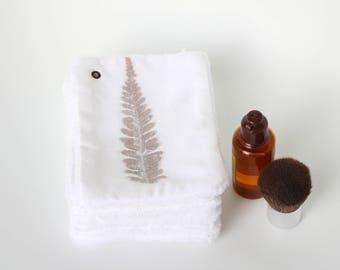 Set of 7 white decor cleansing wipes washable - eco - friendly fern machine